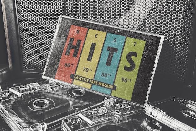 Bekrast oud cassettebanddoosmodel