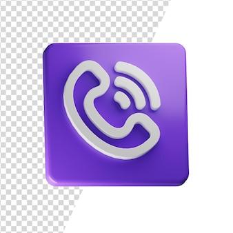 Bel 3d pictogram rendering geïsoleerd concept