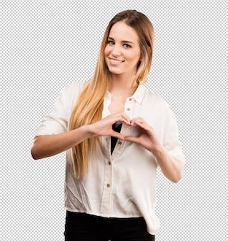 Bella giovane donna innamorata