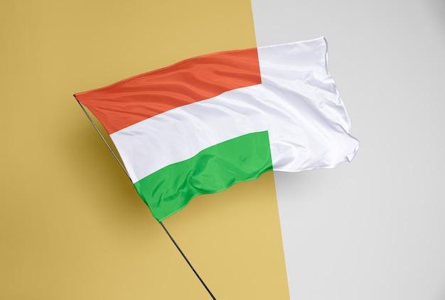 Bellissimo concetto di bandiera mock-up