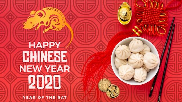 Bellissimo concetto di capodanno cinese