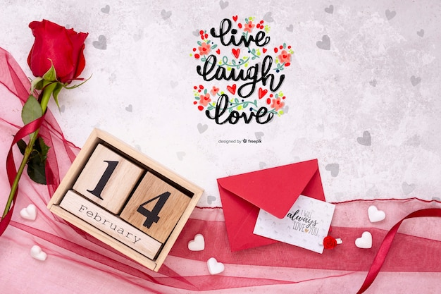 Bello concetto di san valentino mock-up