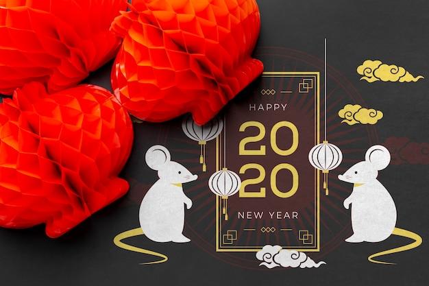 Bello modello cinese felice del nuovo anno
