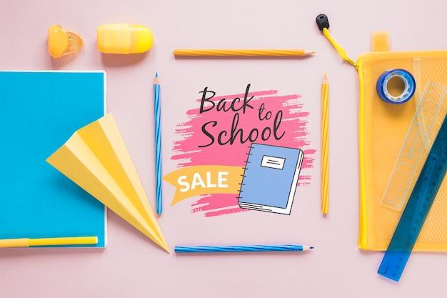 Benodigdheden verkoop voor terug naar school evenement