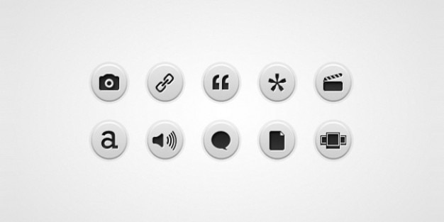 Bericht formaat iconen