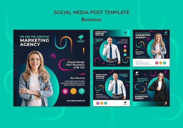 Berichten op sociale media van bedrijven