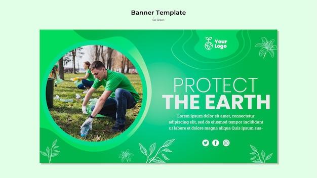 Bescherm het sjabloon van de aardebanner