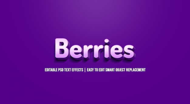 Bessen teksteffect premium psd