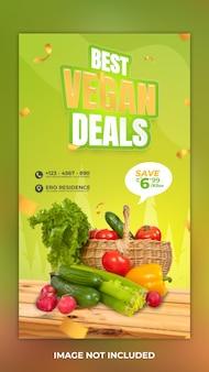 Beste deals groente instagram verhaal postsjabloon