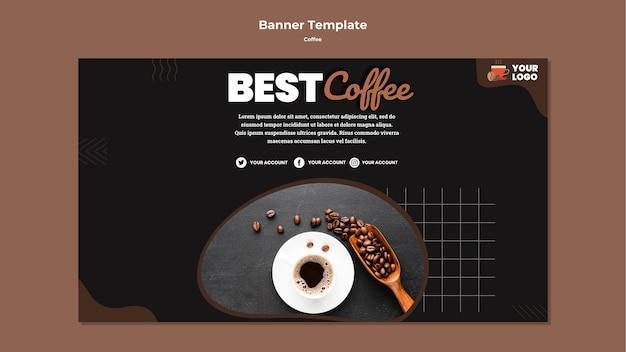 Beste koffie sjabloon voor spandoek