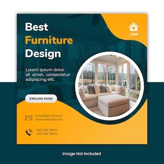 Beste social media postsjabloonbanner voor meubels