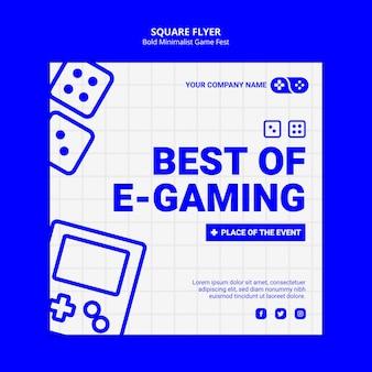 Beste van e-gaming games jam fest vierkante flyer