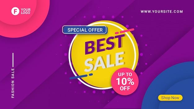 Beste verkoop banner sjabloon promotie