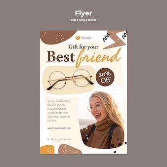 Beste vrienden voor altijd flyer-sjabloon