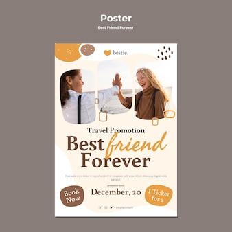 Beste vrienden voor altijd poster sjabloon