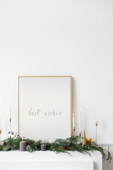 Beste wensen op een gouden frame