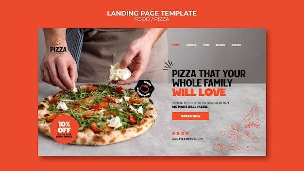 Bestemmingspagina van pizzarestaurant