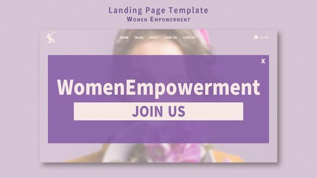 Bestemmingspagina voor empowerment van vrouwen