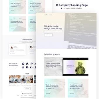 Bestemmingspagina voor website van creative agency en ontwikkeling van apps