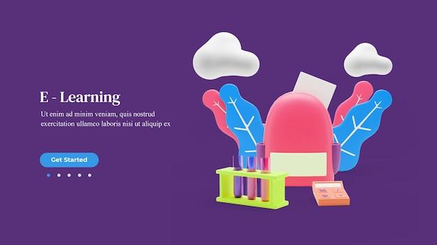 Bestemmingspaginasjabloon voor online leren