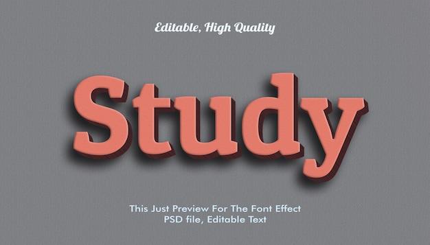 Bestudeer lettertype-effect mockup