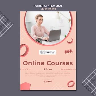 Bestudeer online postersjabloon