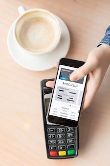 Betaal-app op mock-up smartphonedisplay
