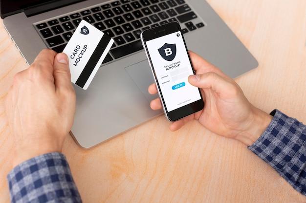 Betaal-app op smartphones toont mock-up