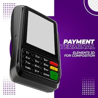 Betaalterminal met creditcard 3d