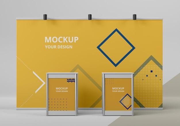 Beursstand mock-up arrangement