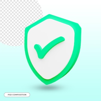 Beveiliging of veiligheid pictogram 3d render