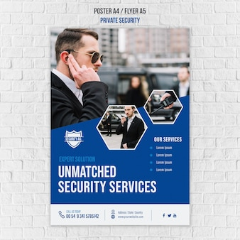 Beveiligingsdiensten poster sjabloon