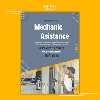 Bevestig uw automonteur-assistent-flyer