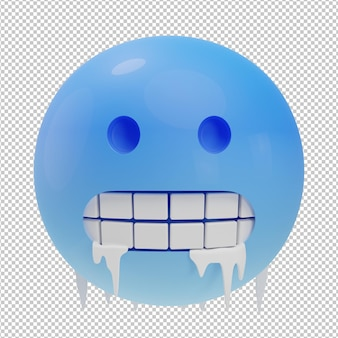 Bevries emoji 3d illustratie