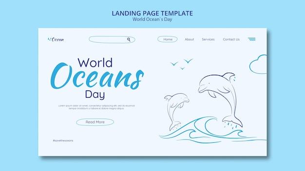 Bewaar de landingspagina van de onderwaterwereld