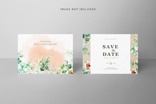Bewaar het datumkaartmodel