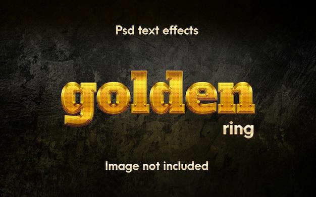 Bewerkbaar gouden ring-teksteffect