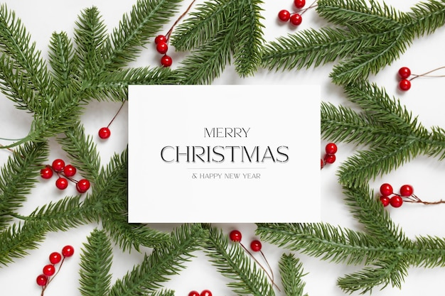 Bewerkbaar kerstvisitekaartje met gepersonaliseerde tekst