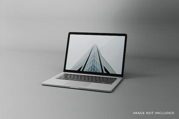 Bewerkbaar laptopscherm mockup-ontwerp