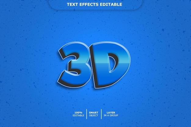 Bewerkbaar teksteffect - 3d
