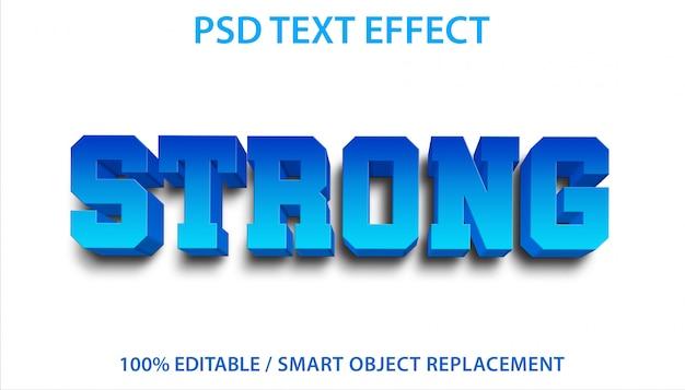Bewerkbaar teksteffect blauw sterk