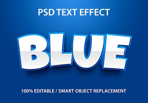 Bewerkbaar teksteffect blauw
