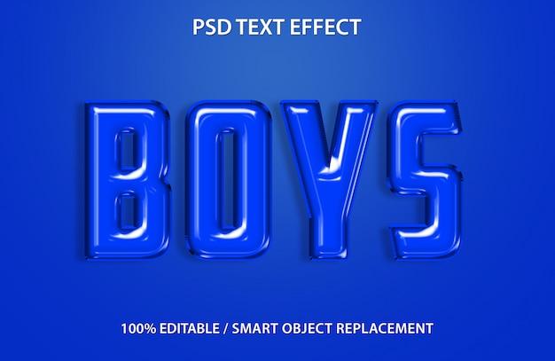 Bewerkbaar teksteffect blauwe ballon