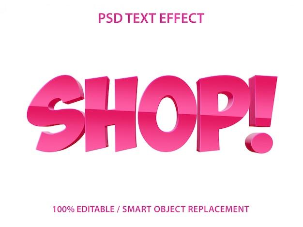 Bewerkbaar teksteffect blue shop