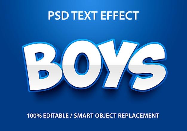 Bewerkbaar teksteffect boys