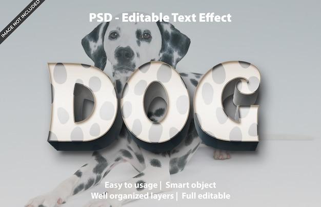 Bewerkbaar teksteffect dog premium