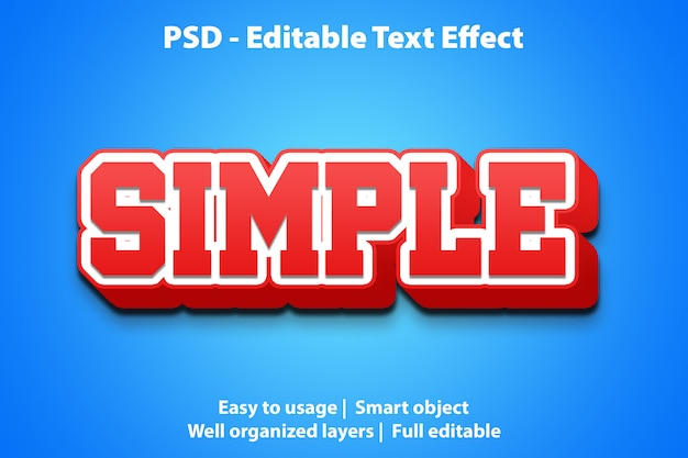 Bewerkbaar teksteffect eenvoudig