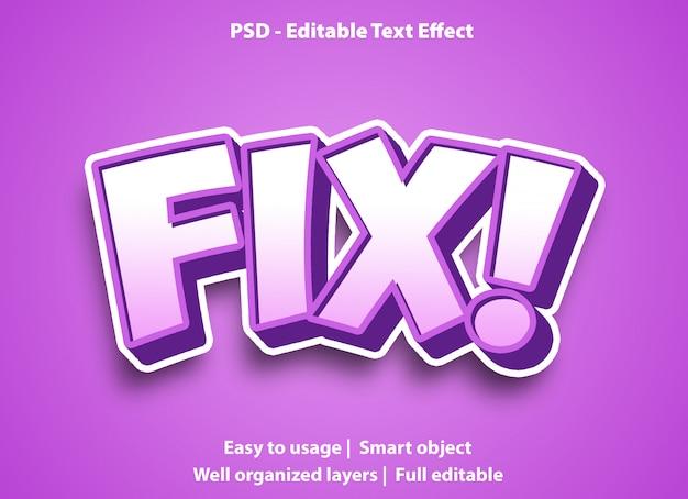 Bewerkbaar teksteffect fix premium