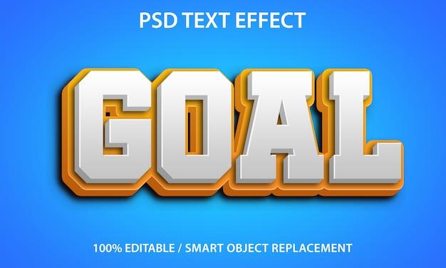 Bewerkbaar teksteffect geel doel