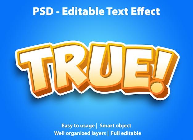 Bewerkbaar teksteffect geel waar
